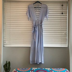 Sunday Stevens Blue and White Striped Jumpsuit